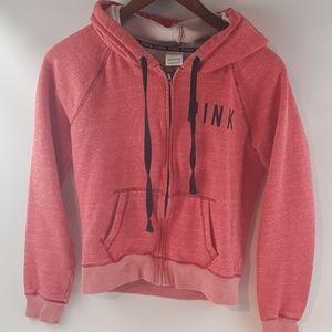 Victoria secret love pink zip up jacket hoodie Sm